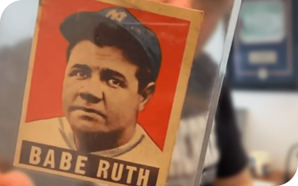 image of 1948 leaf babe ruth trading card